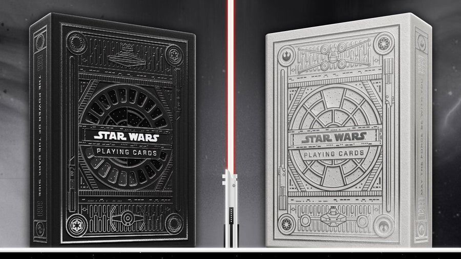 Star Wars Silver Special Edition (The Dark Side) Playing Cards by Theory11