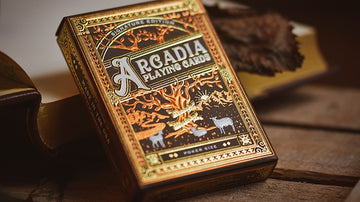 The Arcadia Signature Edition Playing Cards - Brown Playing Cards by RarePlayingCards.com