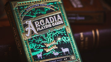 The Arcadia Signature Edition Playing Cards - Green Playing Cards by RarePlayingCards.com