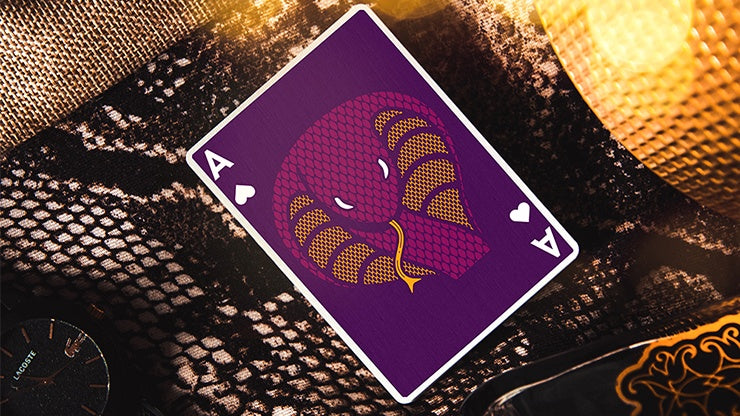 The Serpent (Purple Cobra) Playing Cards