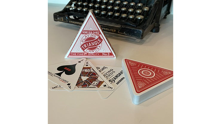 Triangle (Red) Playing Cards Playing Cards by RarePlayingCards.com