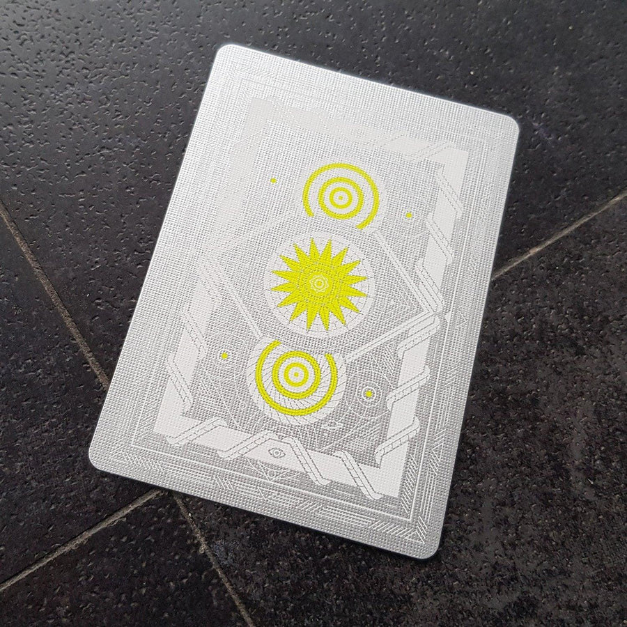 White Monolith Playing Cards by Thirdway Industries Playing Cards by Thirdway Industries