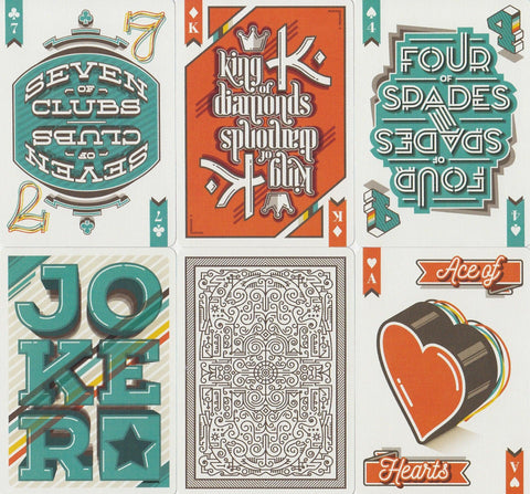 A Typographers Deck Playing Cards