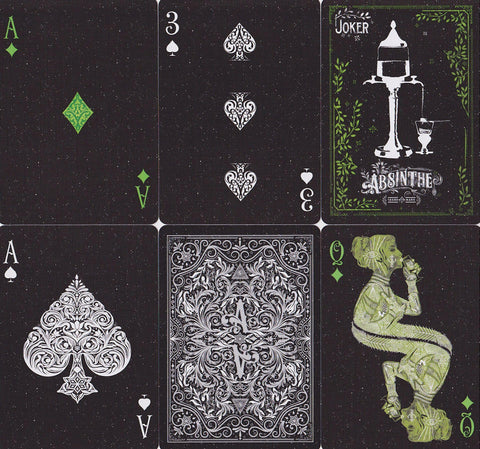 Absinthe V2 Playing Cards - RarePlayingCards.com - 1