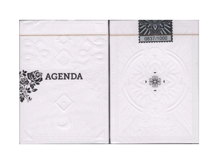 Agenda Playing Cards White Edition
