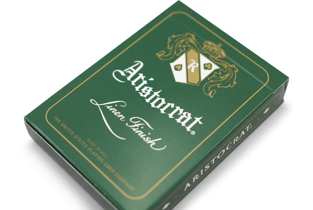 Aristocrat: Green Edition Playing Cards - RarePlayingCards.com - 4