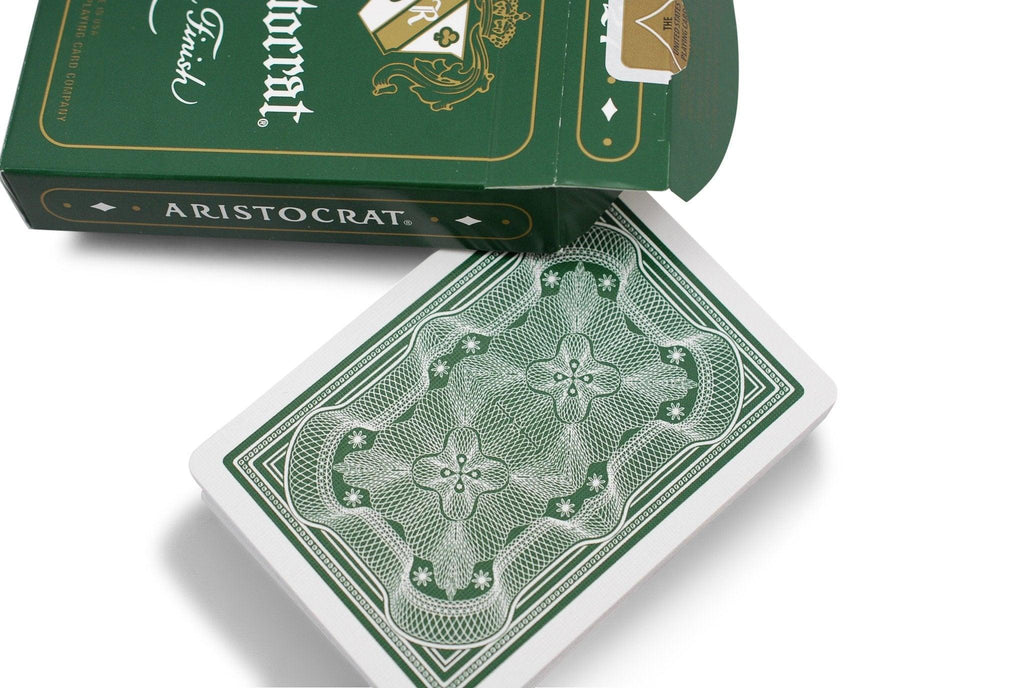 Aristocrat: Green Edition Playing Cards - RarePlayingCards.com - 6