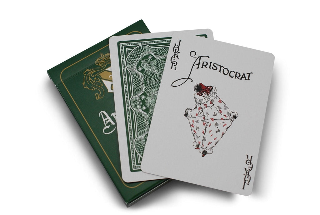 Aristocrat: Green Edition Playing Cards - RarePlayingCards.com - 8