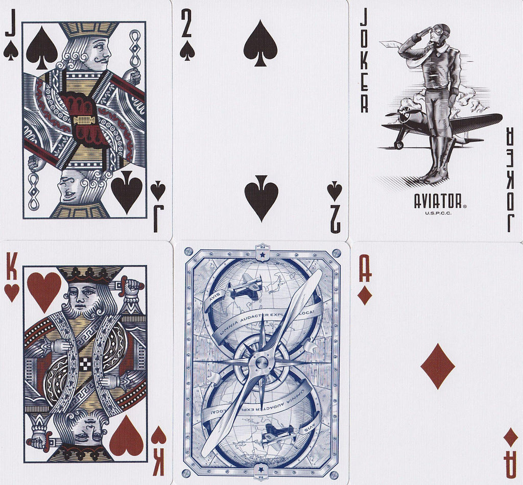 AVIATOR® Heritage Ed. Playing Cards - RarePlayingCards.com - 10