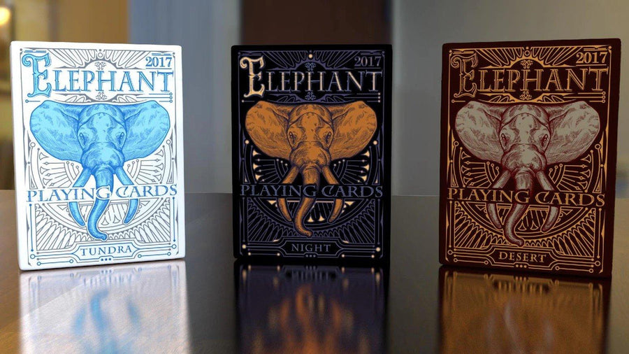 Limited Edition Gilded Night by Elephant Playing Cards