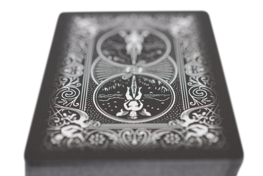 Bicycle® Black Ghost Playing Cards - RarePlayingCards.com - 8