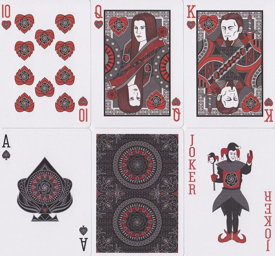 Bicycle® Black Rose Playing Cards by US Playing Card Co.