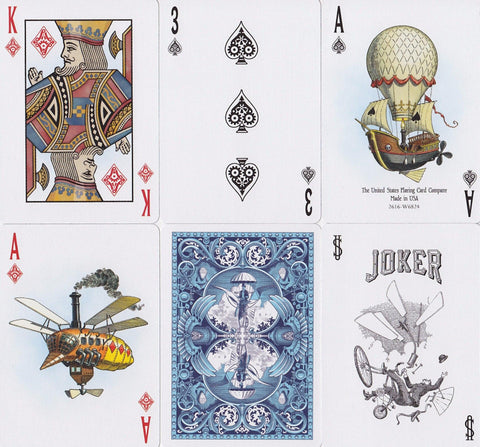 Bicycle® Flying Machines Playing Cards by US Playing Card Co.