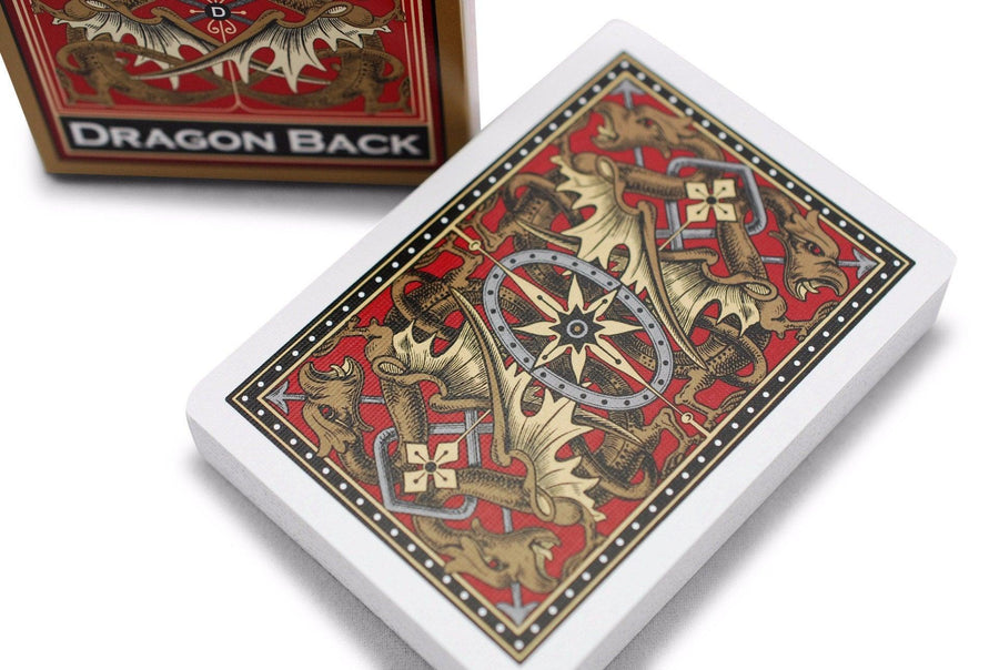 Bicycle gold dragon back playing cards steroid asterisk