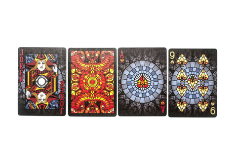 Bicycle Stained Glass Phoenix Playing Cards by RarePlayingCards.com