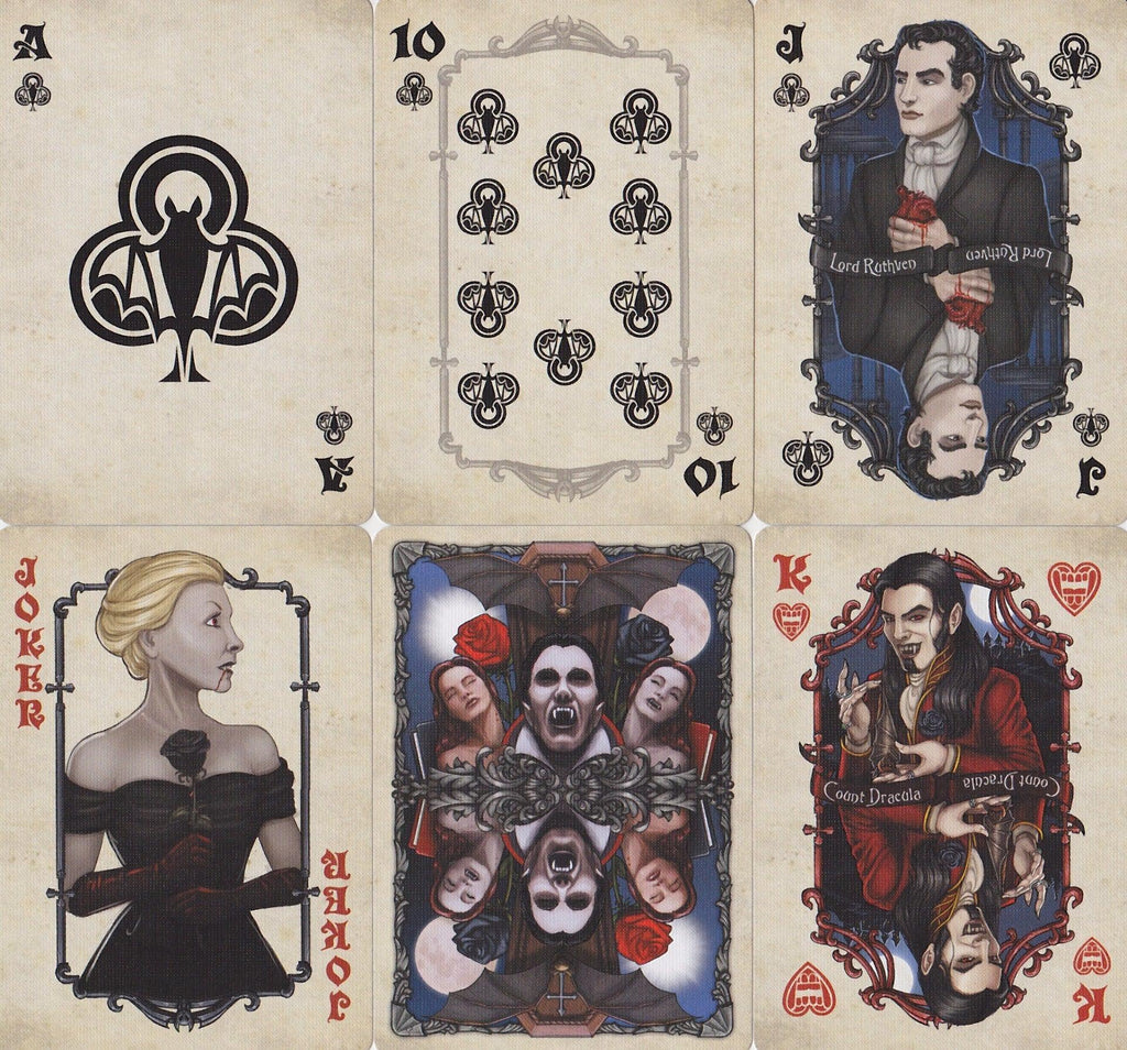 Bicycle® Vintage Vampires Playing Cards - RarePlayingCards.com - 8