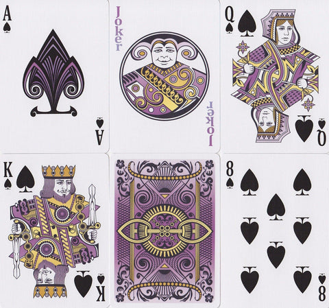 Bicycle® Viola Playing Cards - RarePlayingCards.com - 1