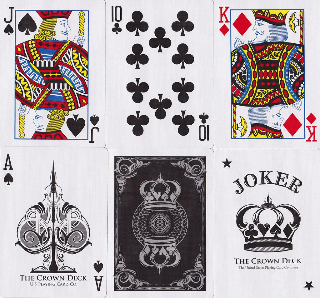 Black Crown Playing Cards - RarePlayingCards.com - 10