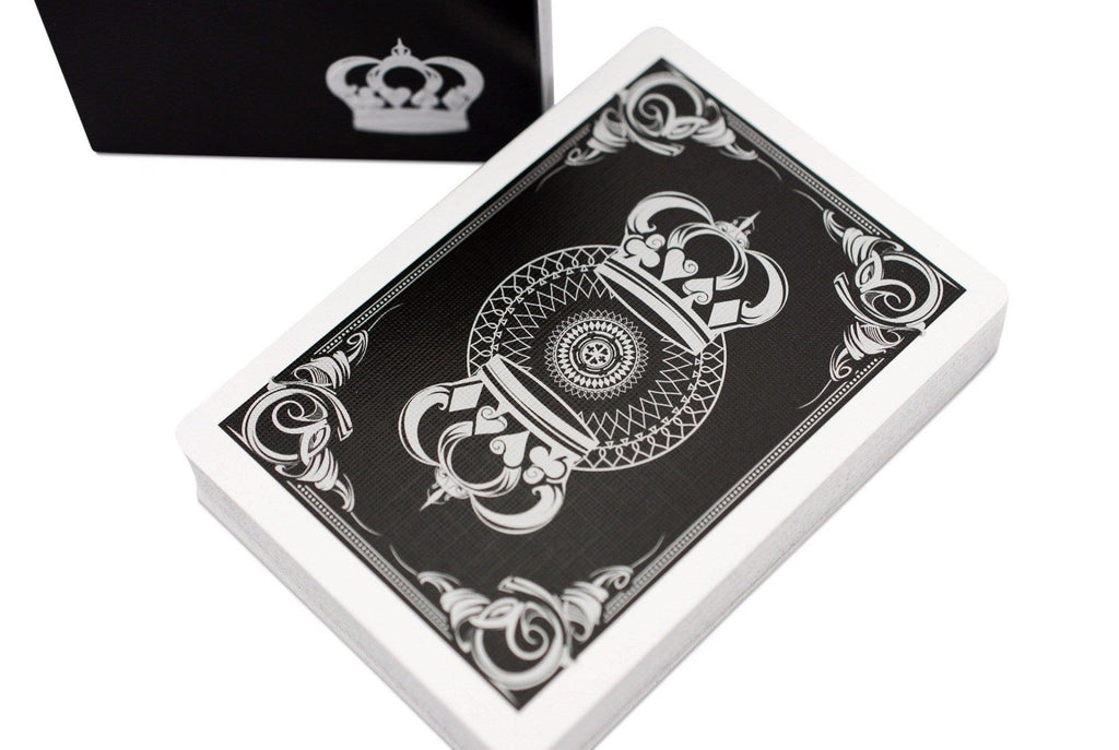 Black Crown Playing Cards - RarePlayingCards.com - 1