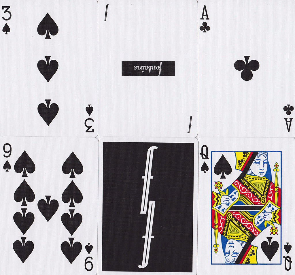 Black Fontaine Playing Cards - RarePlayingCards.com - 10