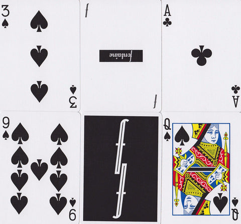 Black Fontaine Playing Cards