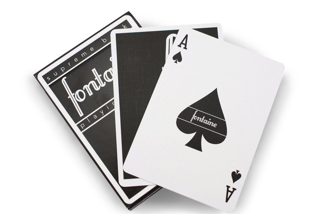 Black Fontaine Playing Cards - RarePlayingCards.com - 9