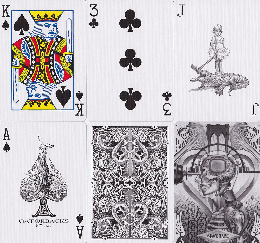 Black Gatorbacks Playing Cards by David Blaine
