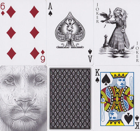 Black Lions Playing Cards - RarePlayingCards.com - 1