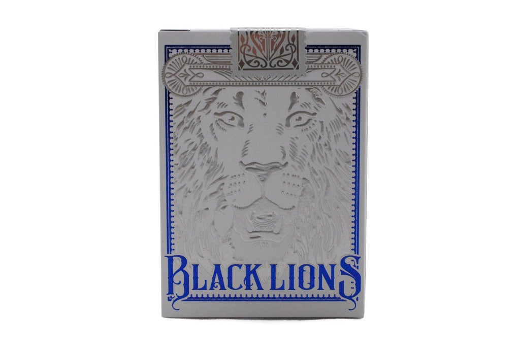 Black Lions Blue Edition Playing Cards - RarePlayingCards.com - 2