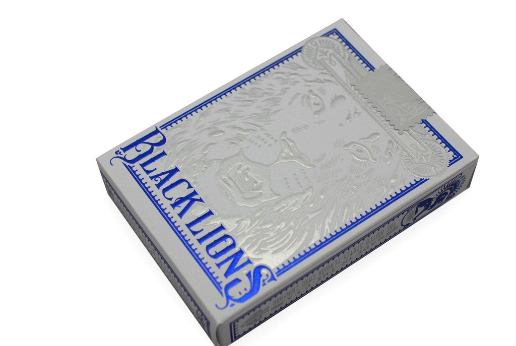 Black Lions Blue Edition Playing Cards - RarePlayingCards.com - 4