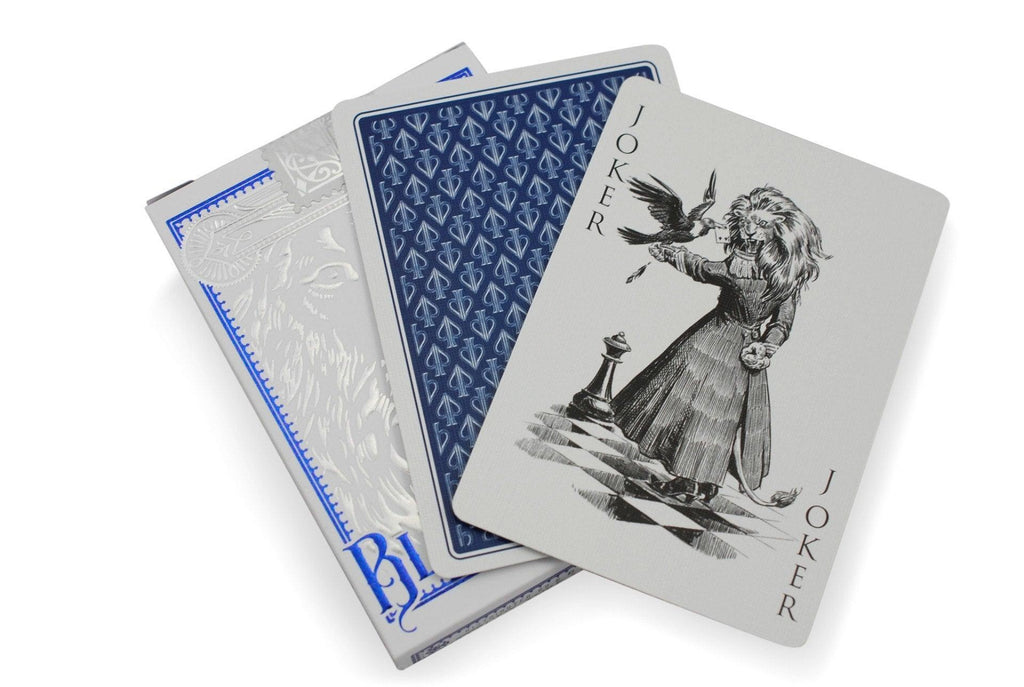 Black Lions Blue Edition Playing Cards - RarePlayingCards.com - 8