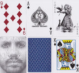 Black Lions Blue Edition Playing Cards - RarePlayingCards.com - 9