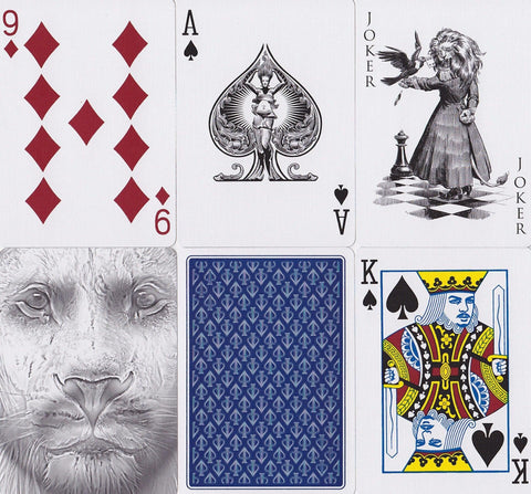 Black Lions Blue Edition Playing Cards by David Blaine