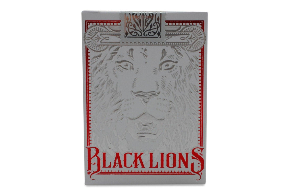 Black Lions Red Edition Playing Cards - RarePlayingCards.com - 2