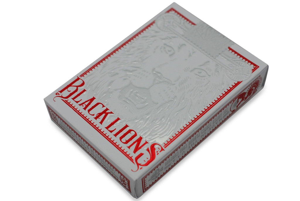 Black Lions Red Edition Playing Cards - RarePlayingCards.com - 4