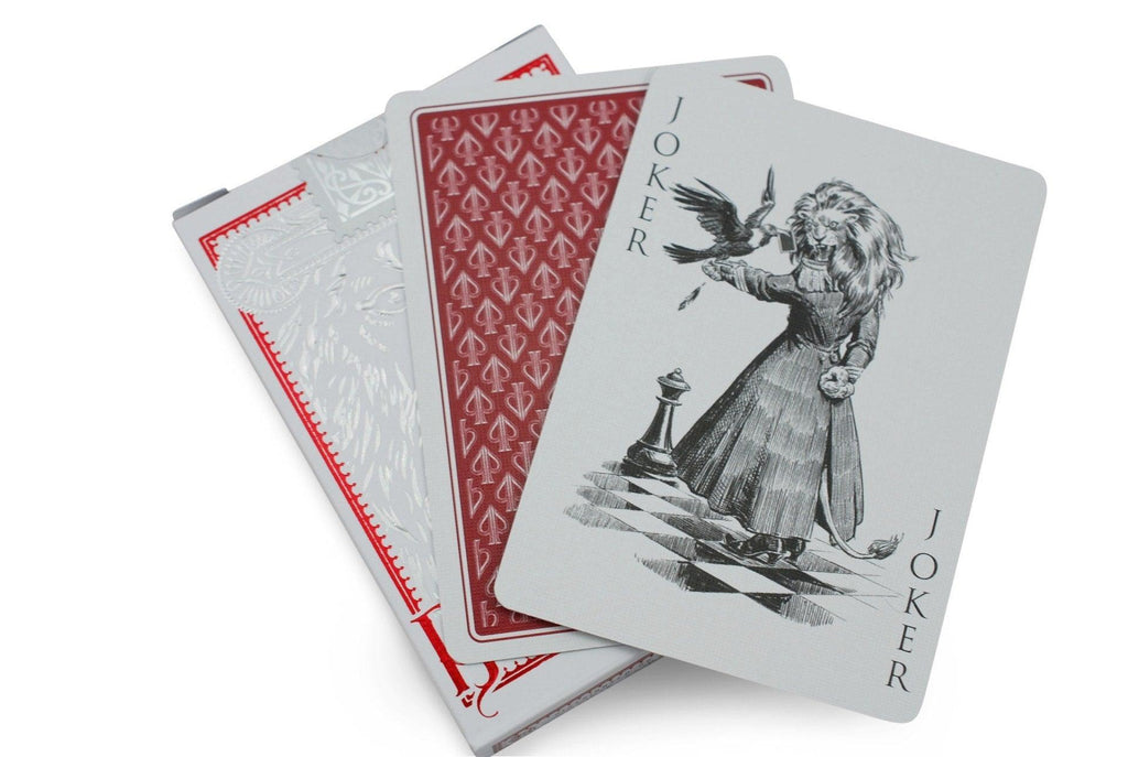 Black Lions Red Edition Playing Cards by David Blaine