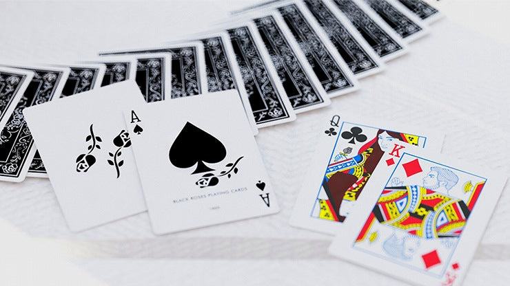 Black Roses Playing Cards by Daniel Schneider