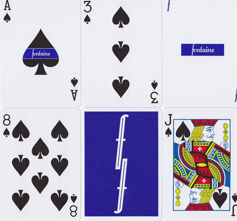 Blue Fontaine Playing Cards by Zach Mueller