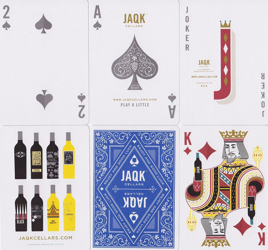 Blue JAQK Playing Cards by Theory11