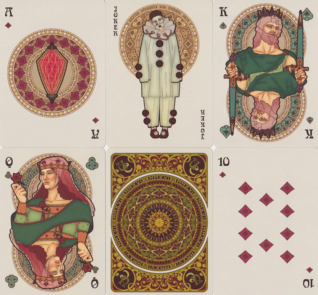 Bourgogne Playing Cards - RarePlayingCards.com - 9