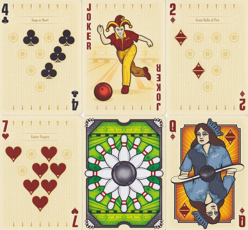 Bowl-A-Rama Playing Cards - RarePlayingCards.com - 10