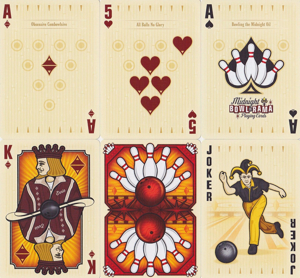 Bowl-A-Rama Playing Cards - RarePlayingCards.com - 9