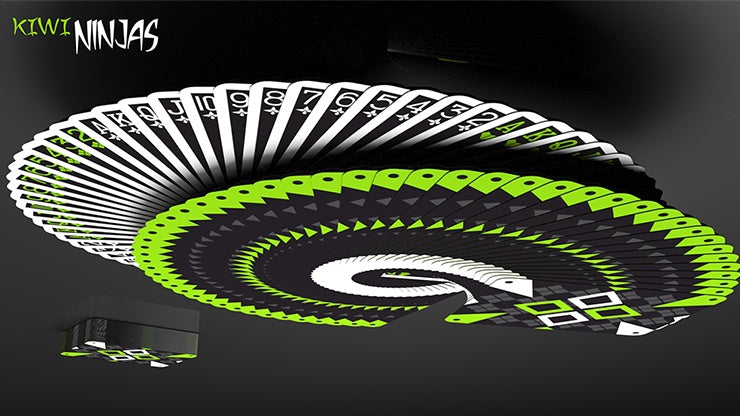 Cardistry Kiwi Ninjas Playing Cards by US Playing Card Co.