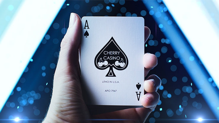 Cherry Casino: Tahoe Blue Playing Cards by US Playing Card Co.