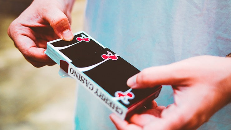 Cherry Casino V3 True Black Playing Cards by Pure Imagination Projects