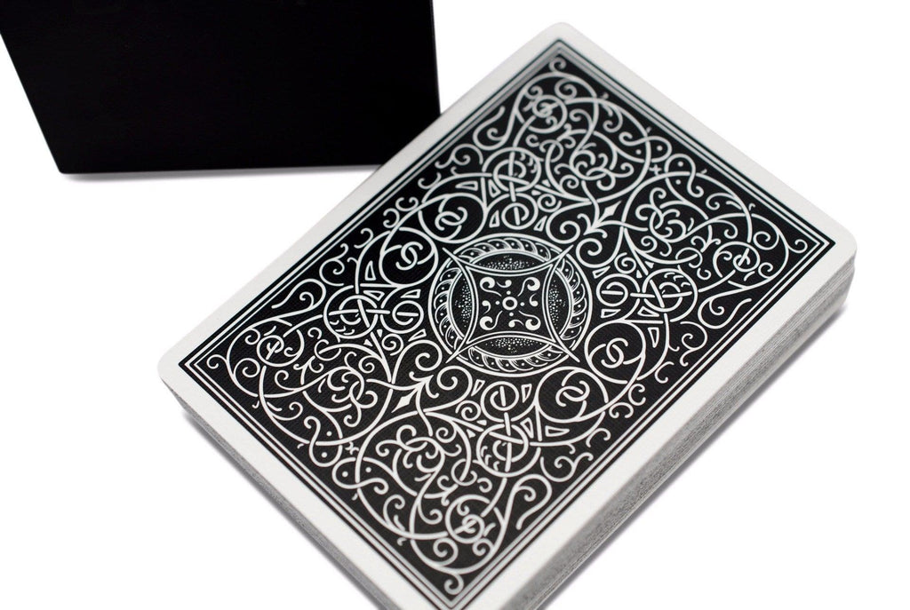 Classic Black Playing Cards - RarePlayingCards.com - 1