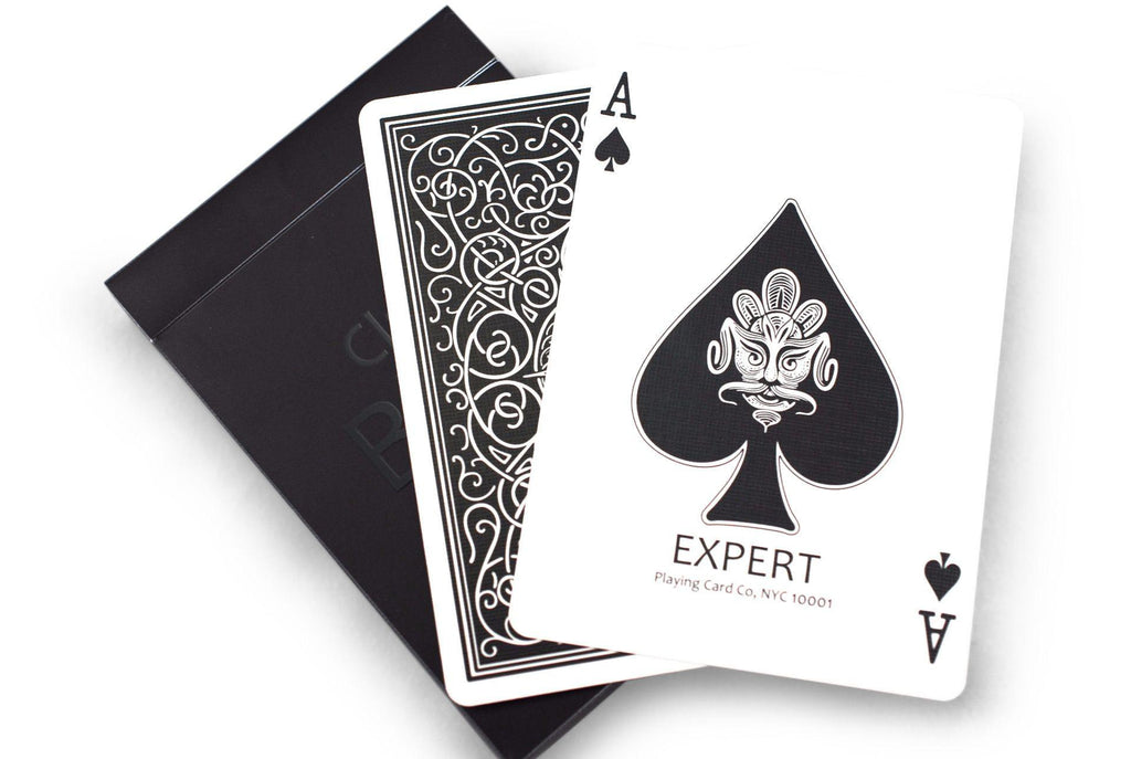 Classic Black Playing Cards - RarePlayingCards.com - 7