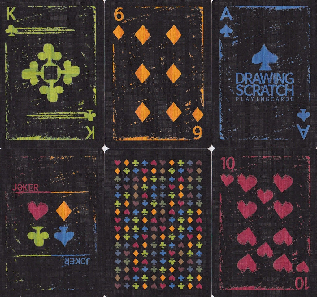 Drawing Scratch Playing Cards by US Playing Card Co.