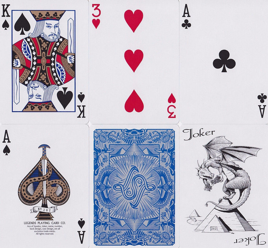 Egyptian Legends Playing Cards by Legends Playing Card Co.