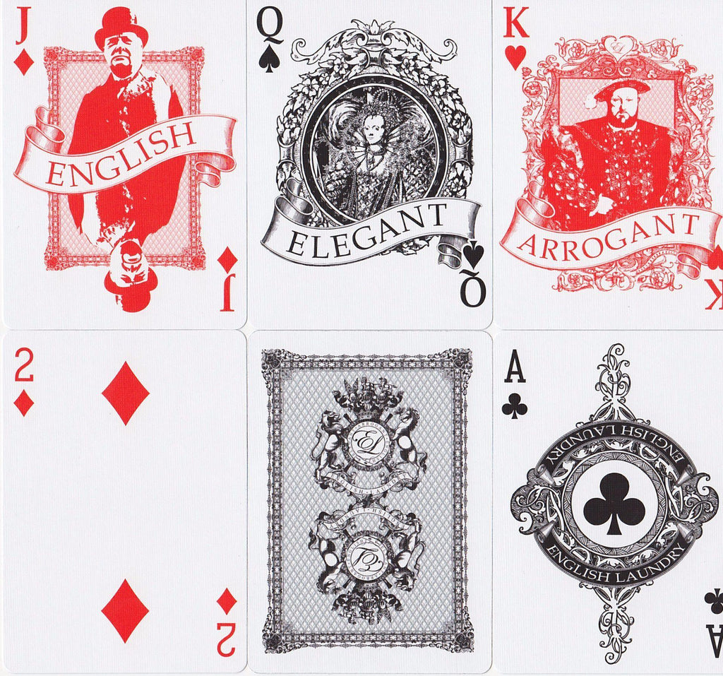 English Laundry Playing Cards